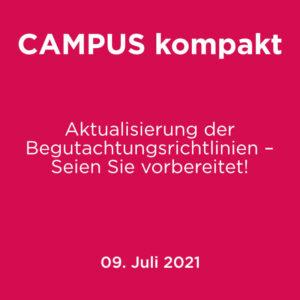 Campus kompakt - Aktualisierung der Begutachtungsrichtlinien